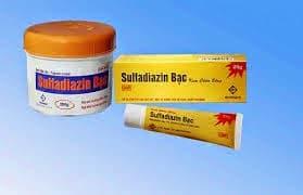 BẠC SULFADIAZINE Thuốc phòng và chữa nhiễm khuẩn các vết thương, vết bỏng