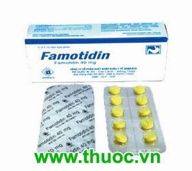 FAMOTIDIN Ðối kháng thụ thể histamin H2