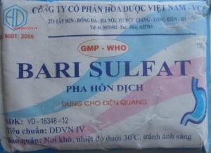 BARI SULFAT Thuốc cản quang (không phối hợp) đường tiêu hóa