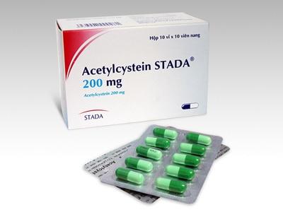 ACETYLCYSTEINThuốc tiêu chất nhầy, thuốc giải độc (quá liều paracetamol) (1)
