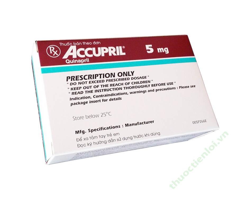ACCUPRIL thuốc gì Công dụng và giá thuốc ACCUPRIL (1)