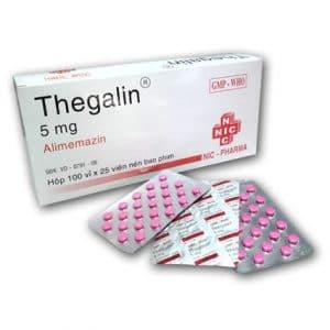 ALIMEMAZIN Ðối kháng thụ thể histamin H1, thuốc an thần