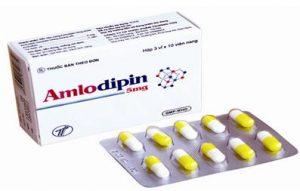 AMLODIPIN Chống đau thắt ngực, chống tăng huyết áp, chất đối kháng kênh calci
