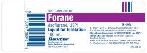 FORANE thuốc gì Công dụng và giá thuốc FORANE (1)