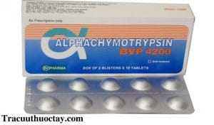 Thuoc Alphachymotrypsin 4 2mg Cong dung lieu dung cach dung