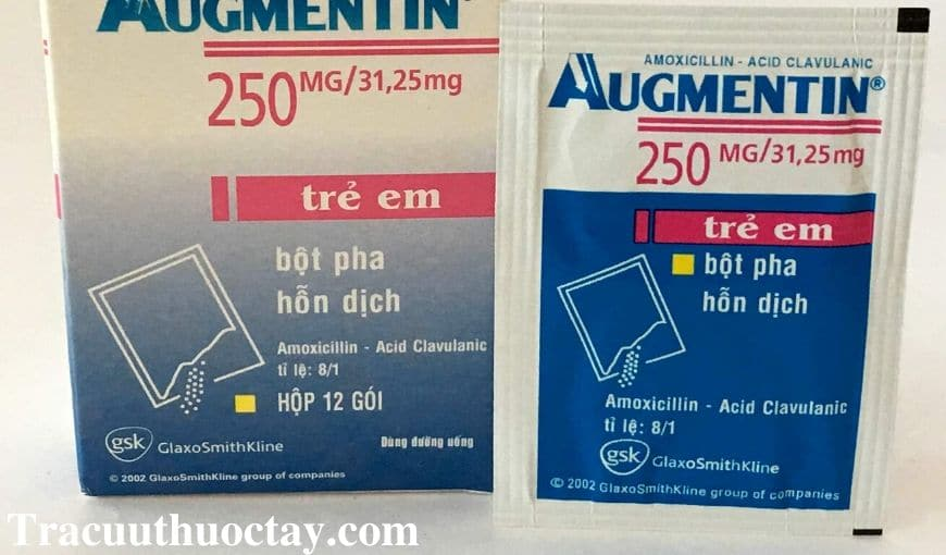 Thuoc Augmentin 250mg Cong dung cach dung