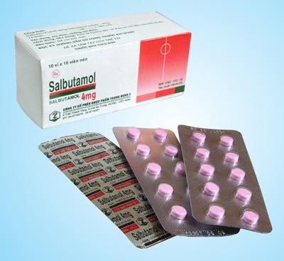 SALBUTAMOL thuốc kích thích giao cảm