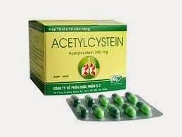 ACETYLCYSTEINThuốc tiêu chất nhầy, thuốc giải độc (quá liều paracetamol) (2)