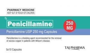 PENICILAMINE Tác nhân tạo phức, giải độc kim loại (1)